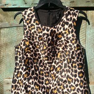 J Crew Leopard Print Sheath Dress